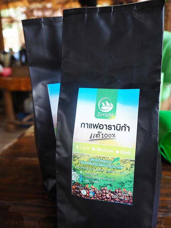 ซานคอฟฟี่ (Zhun Coffee) เมล็ดกาแฟคั่วบด  ชนิดคั่วกลาง 250 กรัม