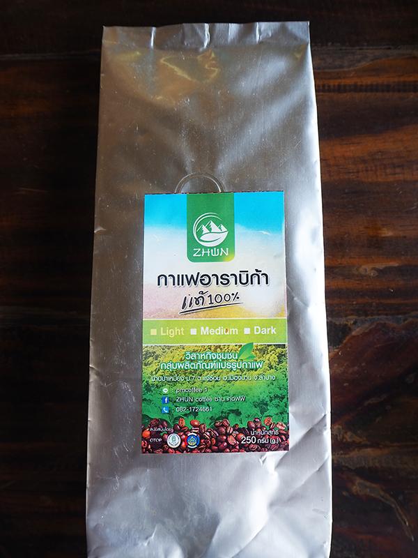 ซานคอฟฟี่ (Zhun Coffee) เมล็ดกาแฟคั่วบด ชนิดคั่วอ่อน 250 กรัม